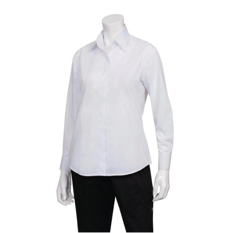 Uniform Works Womens Long Sleeve Dress Shirt White M