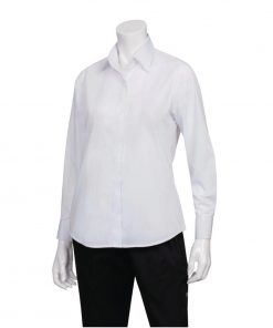 Uniform Works Womens Long Sleeve Dress Shirt White S