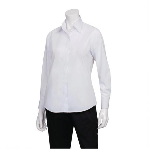 Uniform Works Womens Long Sleeve Dress Shirt White 2XL
