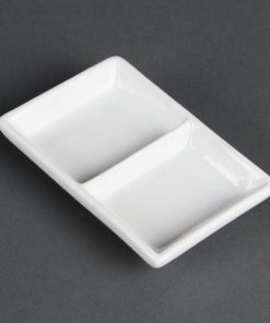 Olympia Whiteware 2 Section Dishes