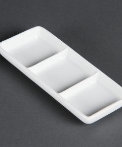 Olympia Whiteware 3 Section Dishes