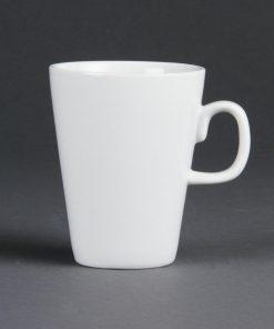Olympia Whiteware Latte Mugs 310ml 11oz