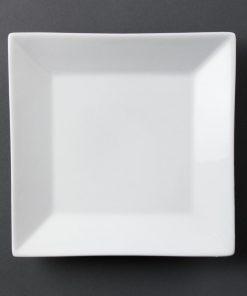 Olympia Whiteware Square Plates Wide Rim 250mm