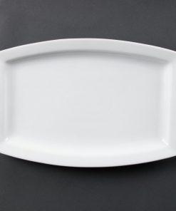 Olympia Whiteware Rectangular Plates 320mm