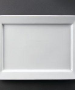 Olympia Wide Rim Rectangular Platter 400x 295mm