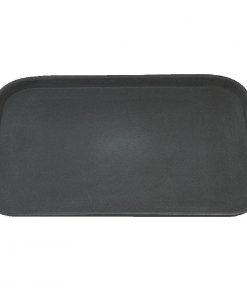 Kristallon Plastic Non Slip Tray Black 15 x 20 in