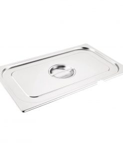 Vogue Stainless Steel 1/1 Gastronorm Notched Lid