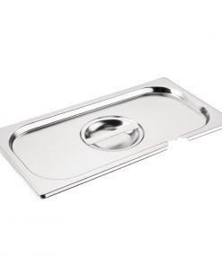 Vogue Stainless Steel 1/3 Gastronorm Notched Lid