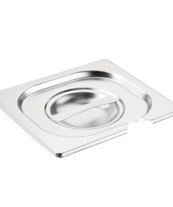 Vogue Stainless Steel 1/6 Gastronorm Notched Lid