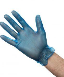 Vogue Powdered Vinyl Gloves L