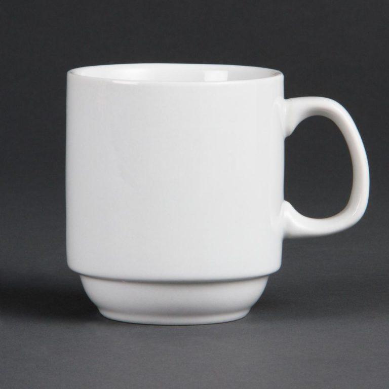 Olympia Whiteware Stacking Mugs 284ml 10oz