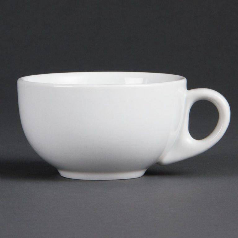Olympia Whiteware Cappuccino Cups 200ml 7oz