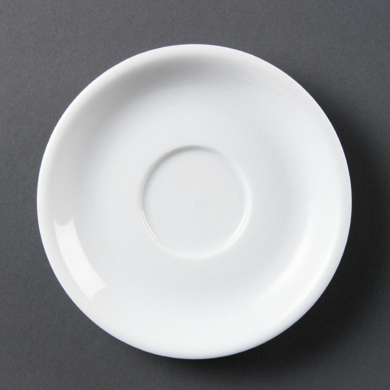 Olympia Whiteware Cappuccino Saucers