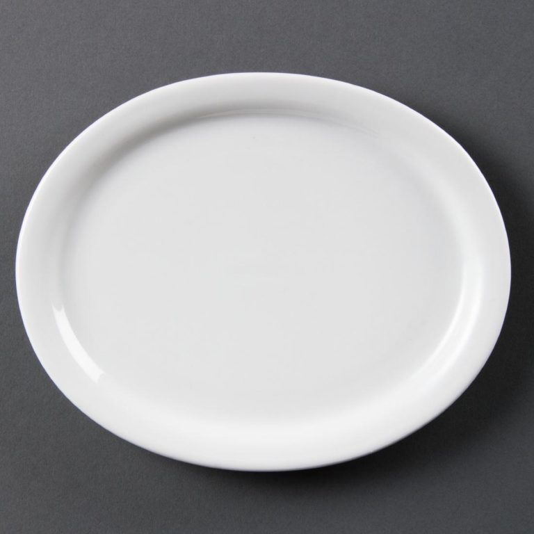 Olympia Whiteware Oval Platters 202mm