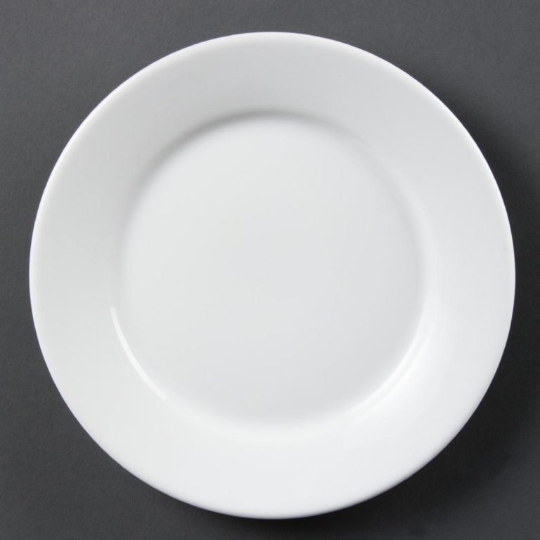 Olympia Whiteware Wide Rimmed Plates 230mm