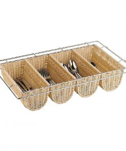 APS Rattan Cutlery Dispenser