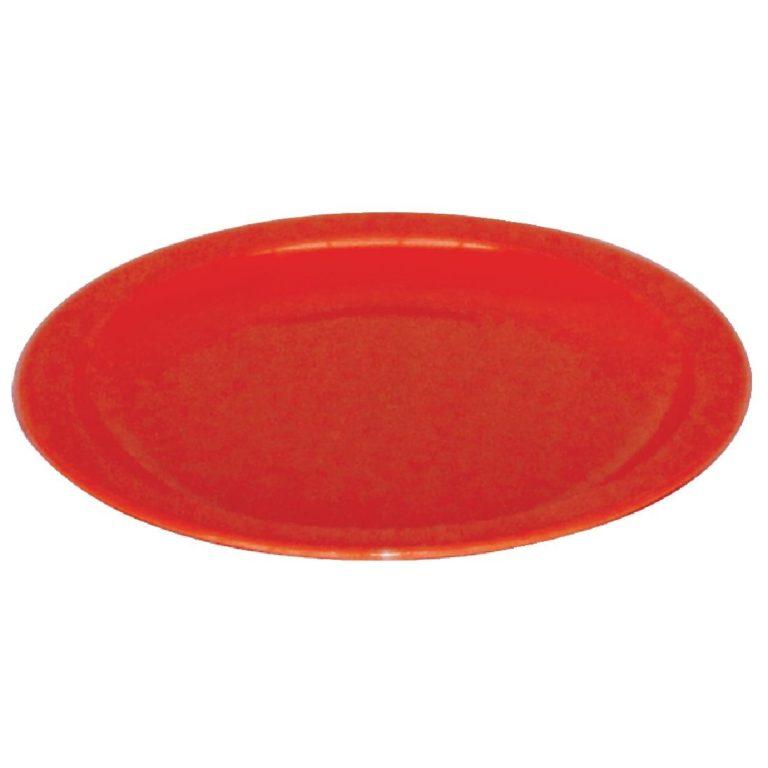 Kristallon Polycarbonate Plates Red 230mm