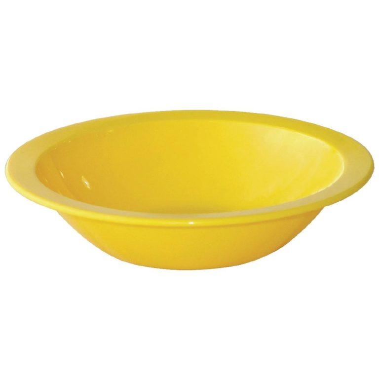 Kristallon Polycarbonate Bowls Yellow 172mm