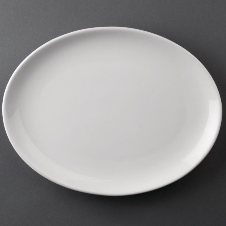 Athena Hotelware Oval Coupe Plates 254 x 197 mm