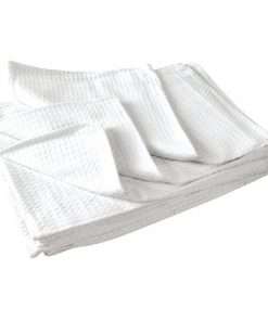 Vogue Cloths White Honeycomb Weave