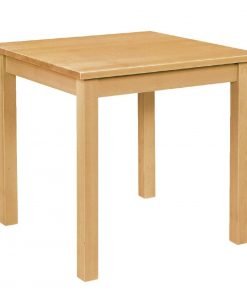 Wooden Dining Table Natural Finish 690mm