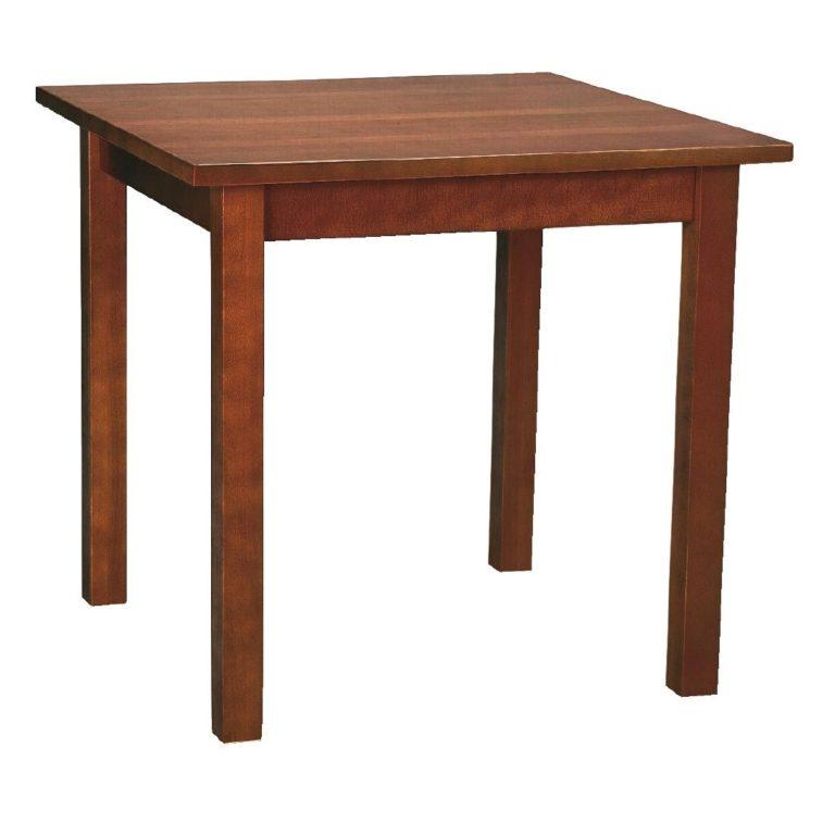 Wooden Dining Table Walnut Finish 690mm