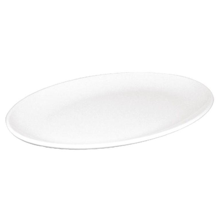 Kristallon Melamine Oval Coupe Plates 305mm