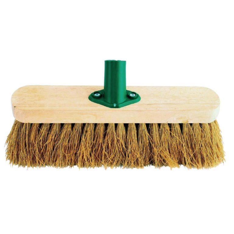 Jantex Wooden Broom Head Soft Coco 12in