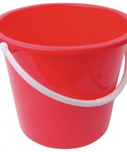 Jantex Round Plastic Bucket Red 10Ltr