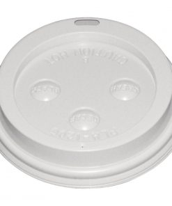 White Lid For Fiesta 340ml / 12oz and 455ml / 16oz Disposable Coffee Cups x 50
