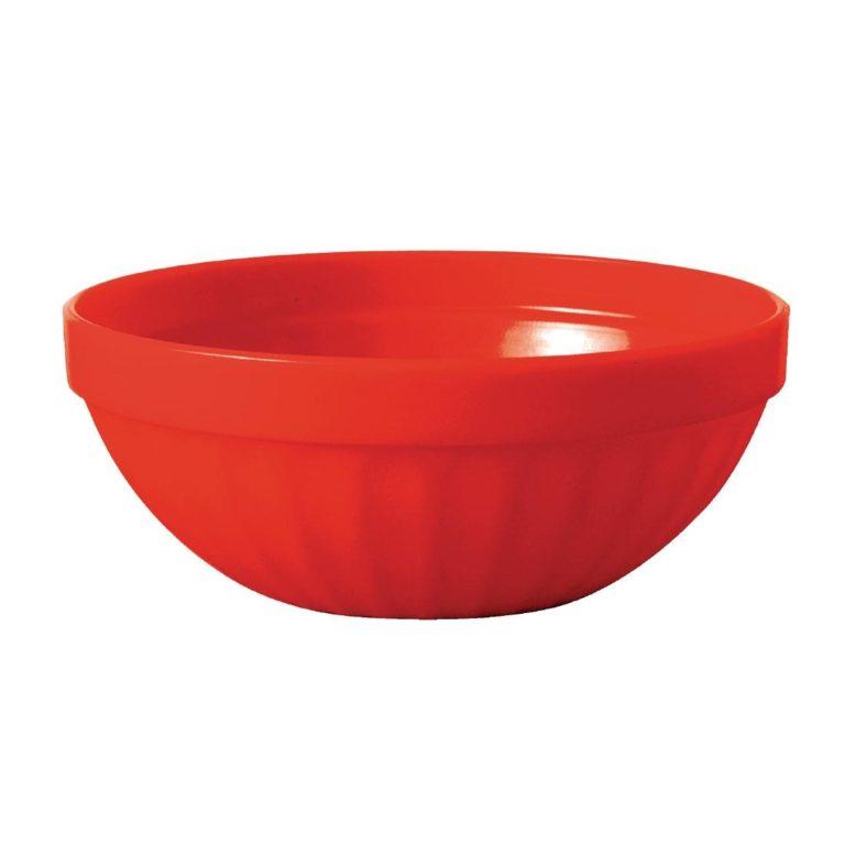 Kristallon Polycarbonate Bowls Red 102mm