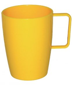 Kristallon Polycarbonate Handled Beakers Yellow 284ml