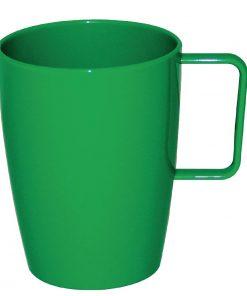 Kristallon Polycarbonate Handled Beakers Green 284ml