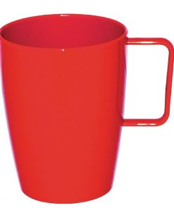 Kristallon Polycarbonate Handled Beakers Red 284ml
