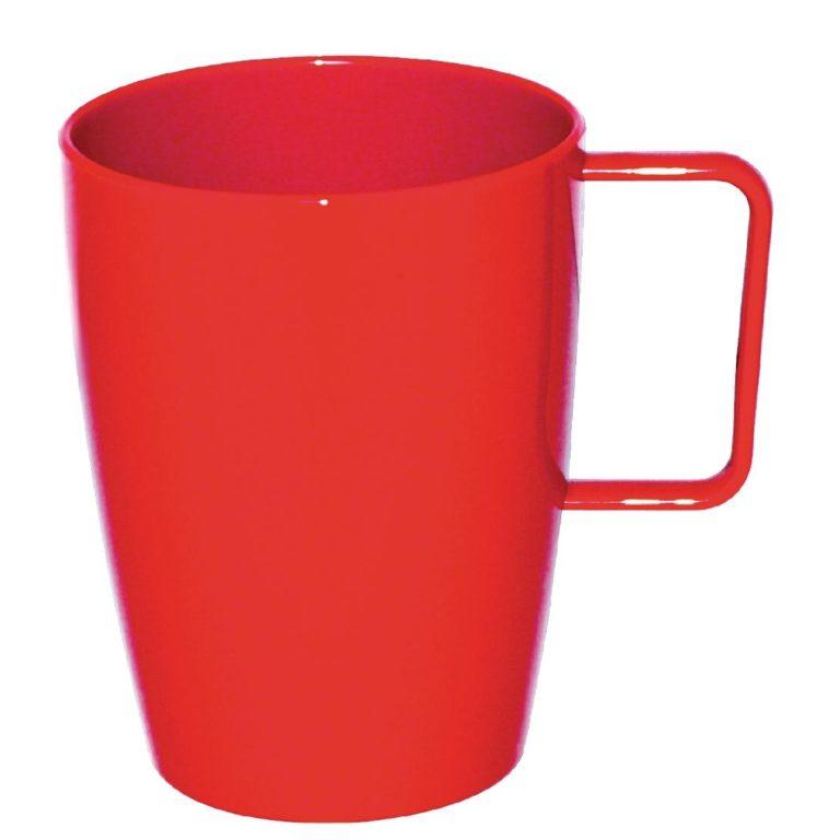 Kristallon Polycarbonate Handled Beakers Red 284ml