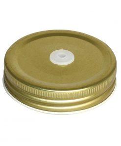 Olympia Mason Jar Lid with Straw Hole
