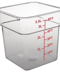 Vogue Polycarbonate Square Storage Container 3.5Ltr
