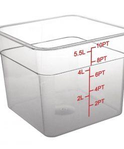 Vogue Polycarbonate Square Storage Container 5.5Ltr