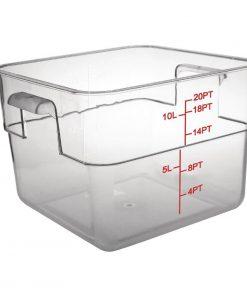 Vogue Polycarbonate Square Storage Container 10Ltr