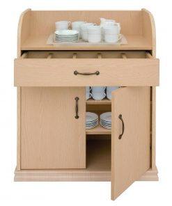 Deluxe Dumbwaiter With Doors Ash