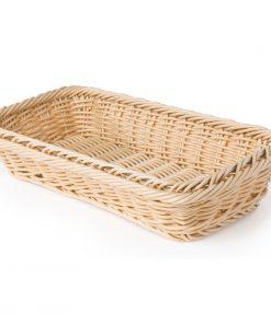 Polypropylene Natural Rattan Basket 1/3 GN