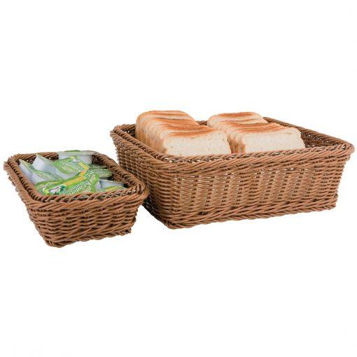 Polypropylene Brown Rattan Basket 1/1 GN