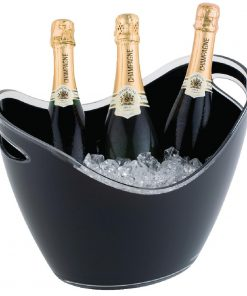 APS Black Acrylic Wine And Champagne Bucket Large