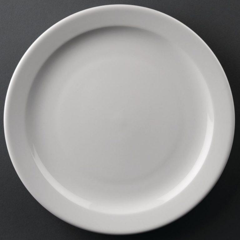Athena Hotelware Narrow Rimmed Plates 258mm