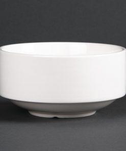 Lumina Fine China Stacking Soup Bowls 398ml 14oz