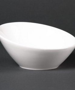 Lumina Fine China Oval Sloping Bowls 148mm