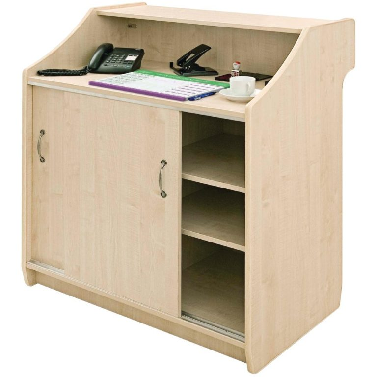 Deluxe Reception Counter 1500mm Maple
