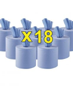 Jantex Centrefeed Blue Roll 18 Pack