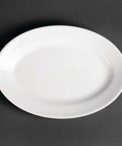 Royal Porcelain Oriental Oval Plates 230mm length