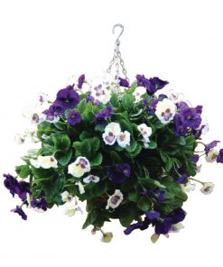 "22"" Purple and White Pansy Ball"